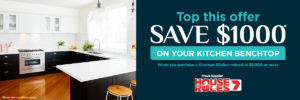 Save $1000 on your bentchtop when you purchase a kitchen. T&Cs apply
