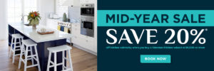Save 20% off kitchen cabinetry