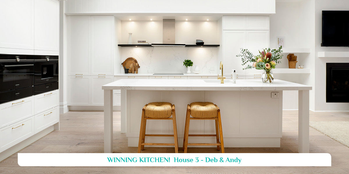 The Block 2019 House 3 - Deb & Andy Winning Kitchen