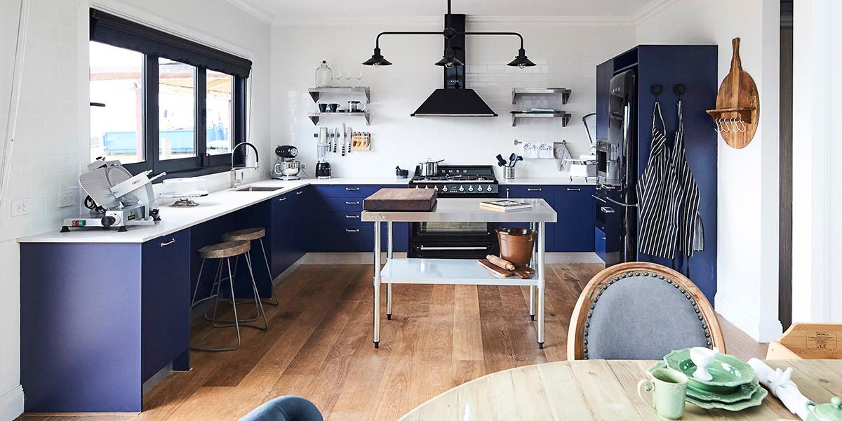 Modern Midnight Blue Kitchen