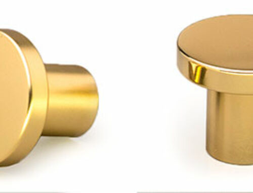 Polished Brass Matt Knob 30Ø