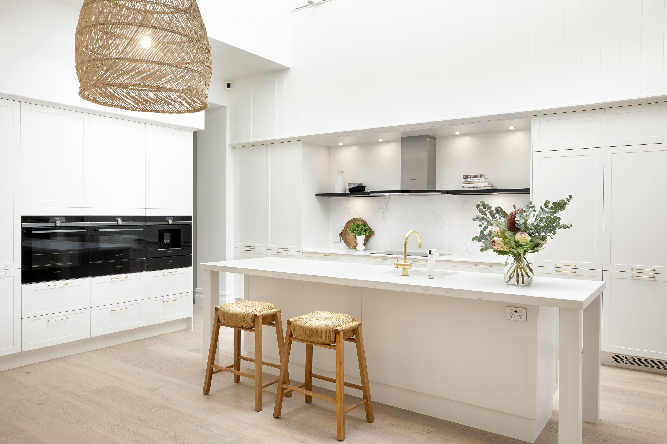 White Shaker-Style Cabinetry