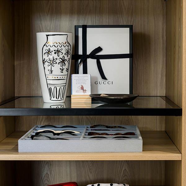 2020 Black Framed Glass Shelf