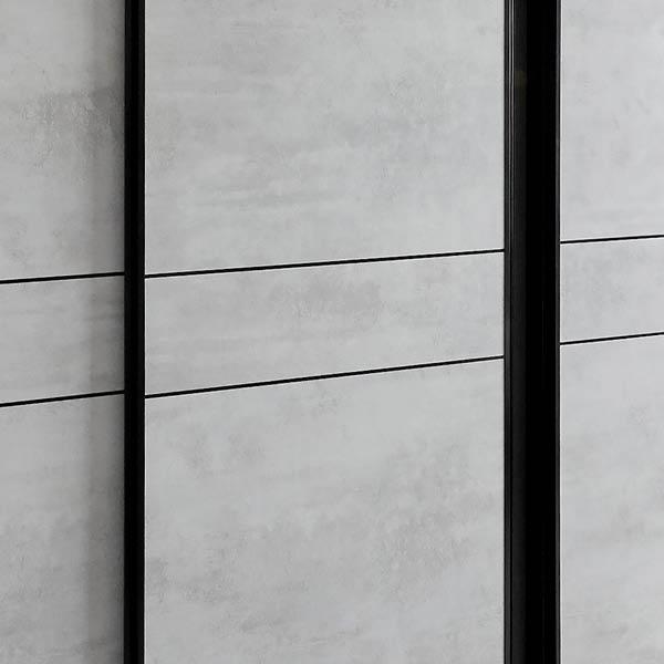 Tri Panel Frame In Black Satin