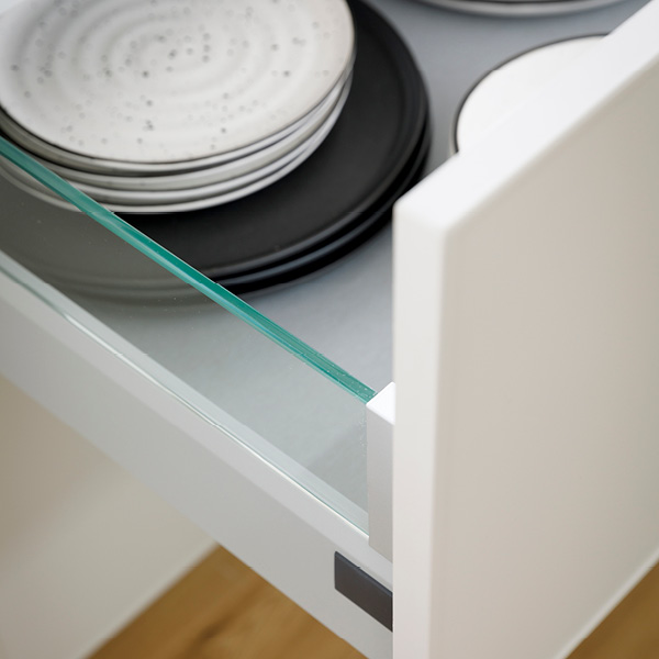 Design Side Glass Sided Drawers